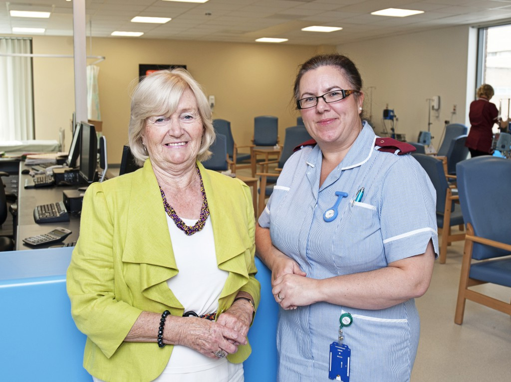Lady Elsie and Lindsey Mills, Trainee Specialist Cancer Research Nurse